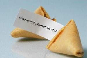 Cracked open fortune cookie with blank fortune